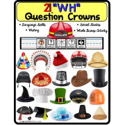 WH Question CROWNS for Autism and Special Education/Language Skills